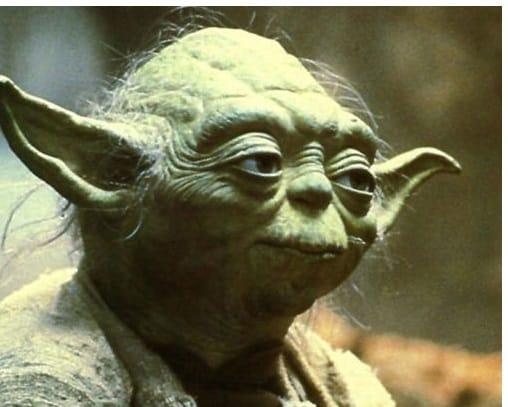Yoda Zitat - erleuchtete Wesen