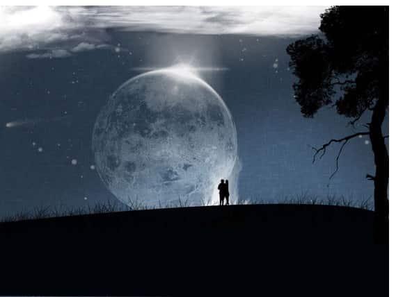 zunehmende Mondphase - Wachstum - Veränderung