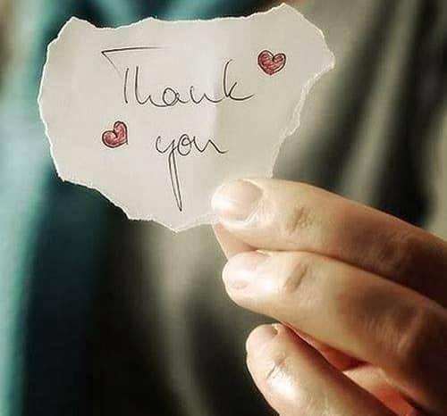 Wir danken euch aus tiefstem Herzen :)