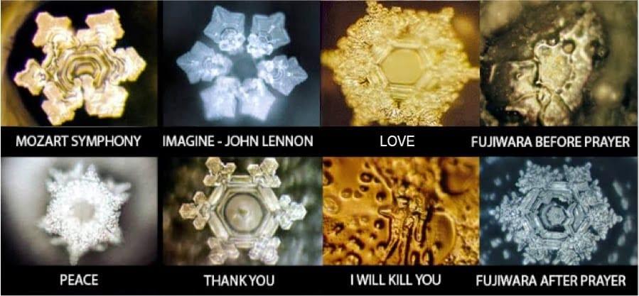Wasserkristalle Veränderung durch Gedanken
