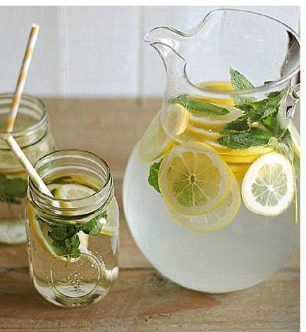 Zitronenwasser + Honig und Zimt