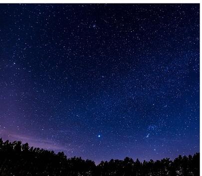Sieben verschiedene Sternenkonstellationen