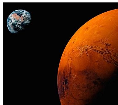 Mars ziemlich erdnah