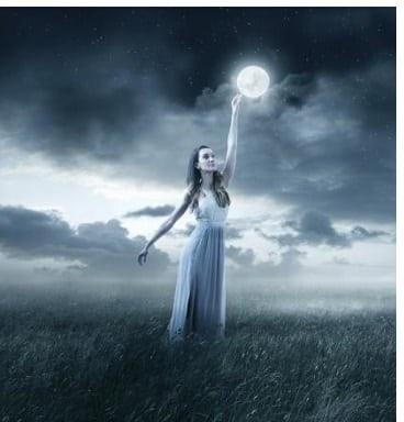 Mond wechselt zum Abend hin in das Sternzeichen Krebs